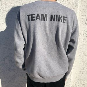 Vintage grey Team Nike crewneck M